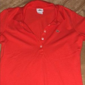 Lacoste beautiful red polo